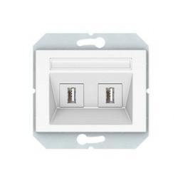USB maitinimo lizdas 2vietų...