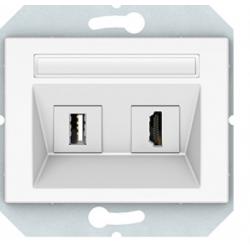 HDMI+USB lizdas be rėmelio...