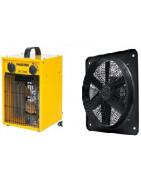 Ventiliatoriai ir šildymo įranga